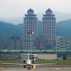 街中の台北松山空港