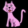 痩せ型の猫 のイラスト