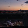 夕景や夜景を撮影する 羽田空港第一ターミナル