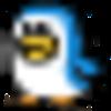 pomochi(抱っこひも用リュック) 11号帆布*先染めブラック×リスと小鳥*ネイビー