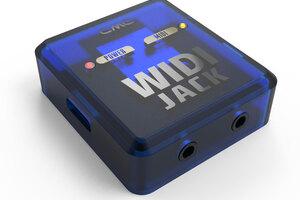さまざまなポートでワイアレスMIDIを実現するCME WIDI Jack。BLE-MIDIでバーチャルMIDIケーブルとして機能