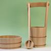 これが手造りの手水セット 普段馴染みが無くなった地鎮祭用の木製手桶など