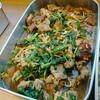 豚ロース肉と春菊、葉玉葱甘辛ソース