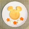 簡単!ミッキー型で卵ホットケーキ☆乳&大豆不使用