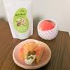 旬の桃、そしてナッツ、アイスクリーム。シンプルで美味しい組み合わせ