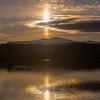 太陽から垂直に柱が伸びているように見える珍しい自然現象『太陽柱』が日本各地で出現!!神秘的な光景!!