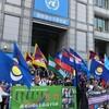 在日のミャンマー、ウイグル、チベット、南モンゴル、香港の団体などから約600人が反CCPデモを敢行