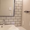 WEB内覧会 白いタイルの洗面台