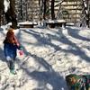 雪遊び3回
