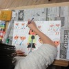 3年生:図工 思い出の絵 彩色