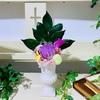 【生徒様作品♪】紫色の輪菊で!仏花