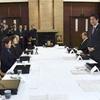 「前進に全力」首相、北方領土の元島民と会談