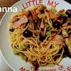 スパゲッティ / ハラペーニョとベーコン、キノコとトマトのスパゲッティ
