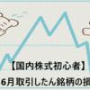 【国内株式初心者】2021年6月取引したん銘柄の損益の記録