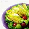 夏の名残|ドラゴンフルーツの蕾、チコリとプチトマトのサラダ