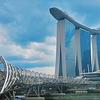 【シンガポール】マリーナエリアの昼間の景色!マリーナベイサンズ、マーライオン、ヘリックスブリッジetc