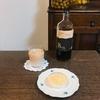 手作りおやつは西宮でおなじみの「ゆげ焙煎所」のアイスコーヒーと