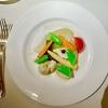 三田の「コートドール」でホロホロ鳥のパン粉焼き マスタードソース、季節の野菜のエチュベ コリアンダー風味、赤ピーマンのムース、ショコラ・マルキーズ他。