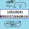 【12月12日(木)】転売されそうなものまとめ