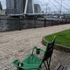 中央大橋近くの佃公園/石川島公園で、のんびり。(中央区佃)