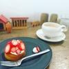職場で食べるケーキ。