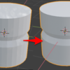 Blender 2.8 で特定の辺だけ折り目をつける
