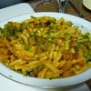 カボチャのパスタ⑤大皿ごちそうパスタ