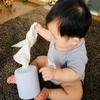 【生後8ヶ月】ひっぱるのが好きな赤ちゃんのための手作りおもちゃ