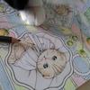 メイキング】三菱No.888色鉛筆でかんわいいページを塗ってみた☆幸せのメヌエットより