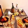 ワインが似合うハロウィン♪おもてなしテーブルコーディネート[orange×black×gold]