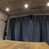 快適な車中泊の為に必要な遮光カーテン1級の実力と曲がるカーテンレールを取り付けてみた!