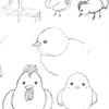 2017年は酉年なので鶏とヒヨコを描いてみた!リアル&デフォルメ