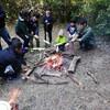 焚き火を囲んで竹パン作り♪【森のがっこう】
