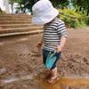 プレイパークで泥遊び!水遊び!金柑の冷凍保存。