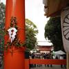 残雪の下鴨神社