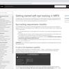 MRTK v2のドキュメントを少しずつ読み解く MRTKでアイトラッキングを開始する