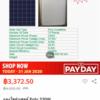 遂にソーラーパネルが1W1THBを切る価格帯に…