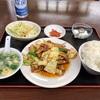 中区羽衣町の「重慶四川料理 一祠八堂」で四川風ホイコーロー定食