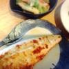塩鯖、牡蠣フライ、えんどうかき揚げ