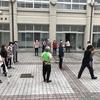 25周年記念事業関連美化活動(中庭清掃)