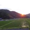 夏至と夕日