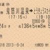 きぬ136号 特急券