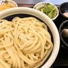 ざるうどん(得) + 温泉玉子(丸亀製麺)