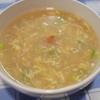 レトルト参鶏湯 + ネギと鶏ハム