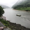 五月雨の最上川を電動自転車で走ってみました