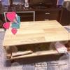 余ったフローリング材で作る 簡単ローテーブルDIY
