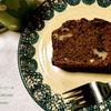 今日の締めは珈琲とキャロブパウダーケーキ