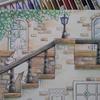 クーピーで階段手すり(?)部分を塗ってみました・憧れのお店屋さんより
