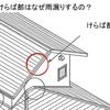 ~けらば部はなぜ雨漏りするの? Q022~ 図解 屋根に関するQ&A