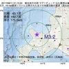 2017年08月11日 01時13分 後志地方北部でM3.2の地震